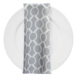 Halo Print Lamour Table Napkin in Silver