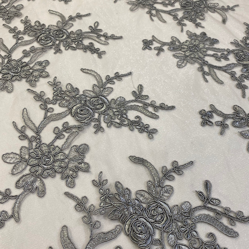 Laylani Lace (w/ Poly Lining) Table Napkin in Silver