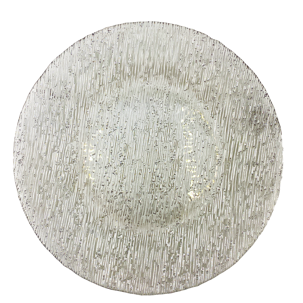 Static - Glass Charger Plate in Silver