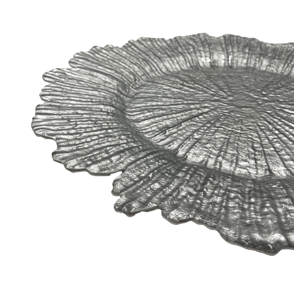 Reef - Glass Charger Plate in Silver