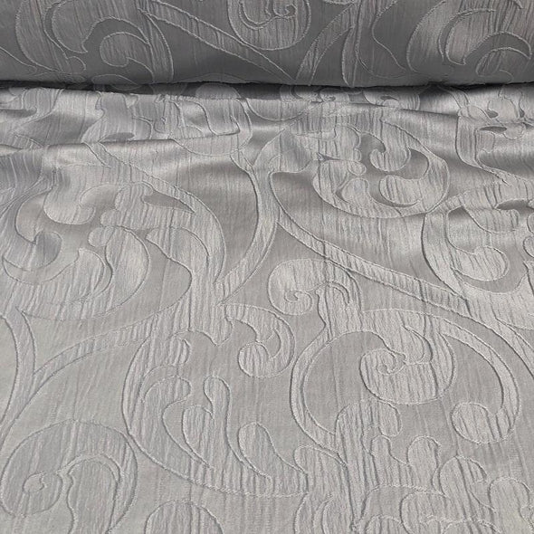 Classic Jacquard Table Runner in Silver