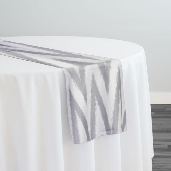 Horizon Poly Print Table Runner in Silver