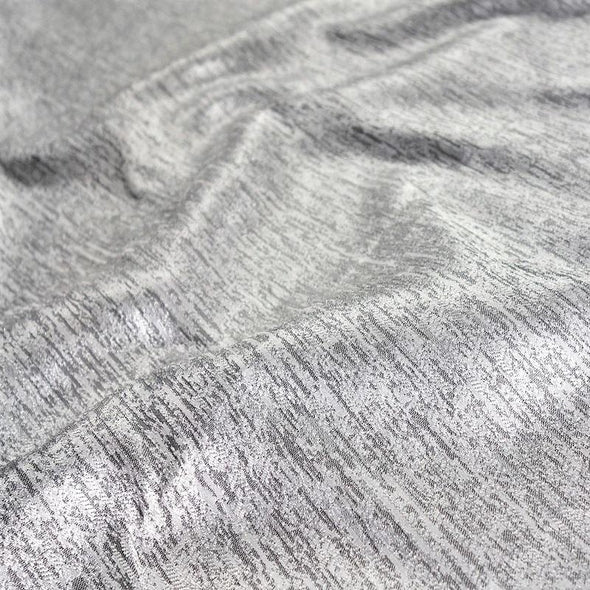 Sterling Jacquard Wholesale Fabric in Silver
