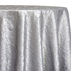 Flora Rose Table Linen in Silver