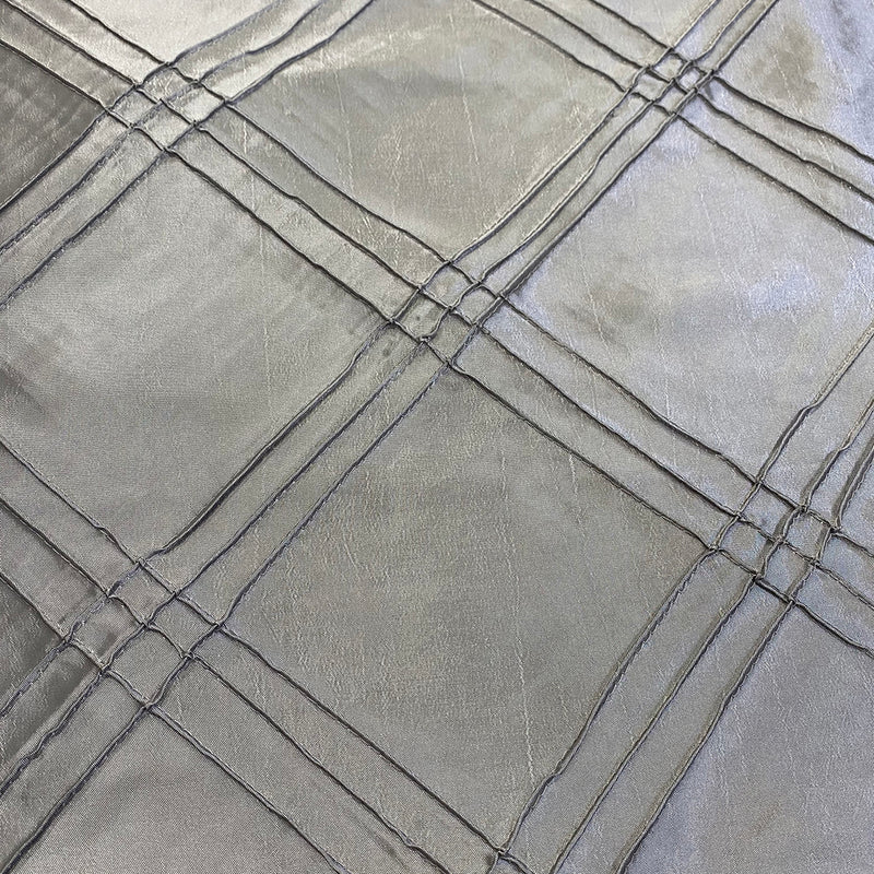 Triple Pleat Pintuck Wholesale Fabric in Silver