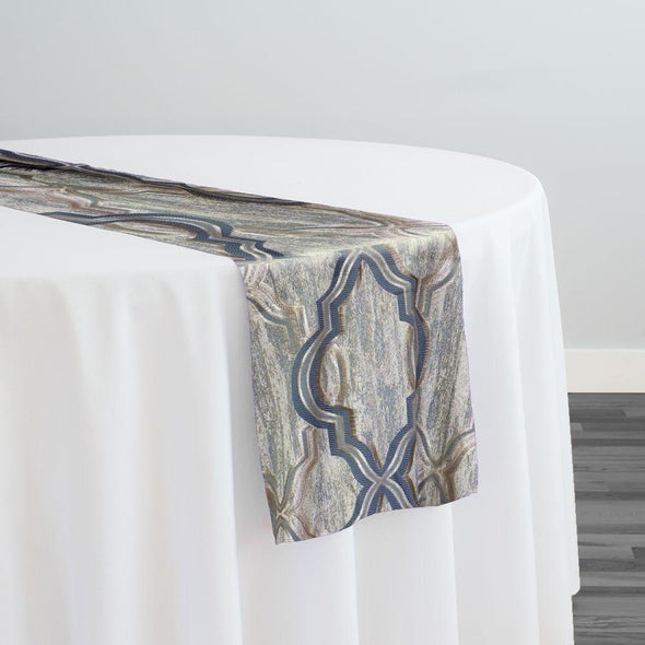 Bentley Jacquard Table Runner in Silver