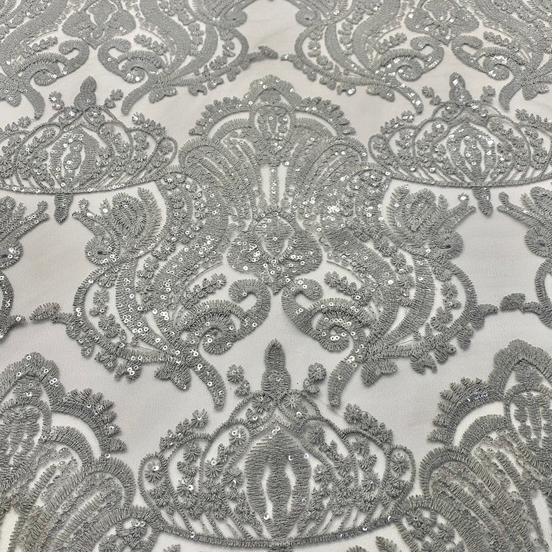 Princess Lace Table Runner in Silver