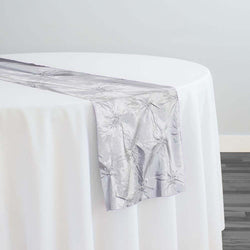 Belly Button (Pinwheel) Table Runner in Silver