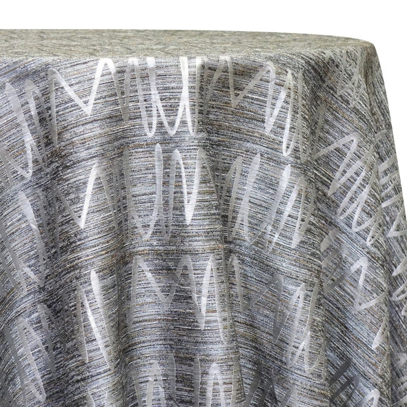 Zion Jacquard Table Linen in Silver