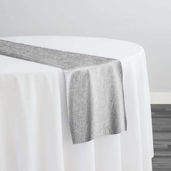 Sterling Jacquard Table Runner in Silver