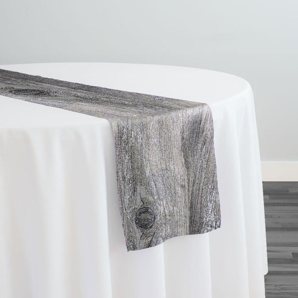 Sahara Jacquard Table Runner in Silver