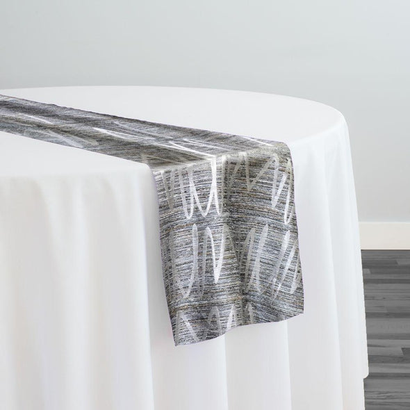 Zion Jacquard Table Runner in Silver