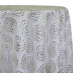 Dahlia Sequins Table Linen in White
