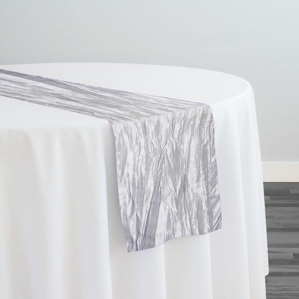 Accordion Taffeta Table Runner in Silver 097