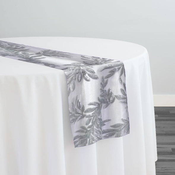 Giselle Sequins Table Runner in Silver