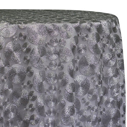 Coin Table Linen in Silver