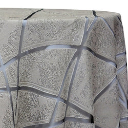 Atlas Sheer Table Linen in Silver
