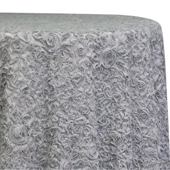 Lush Chiffon Table Linen in Silver