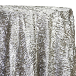 Austrian Wave Satin Table Linen in Silver