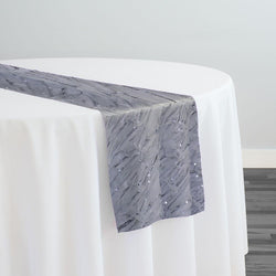 Brilliant Sheer Sequins Table Runner in Silver