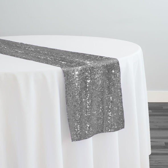 Glitz Sequins Table Runner in Silver