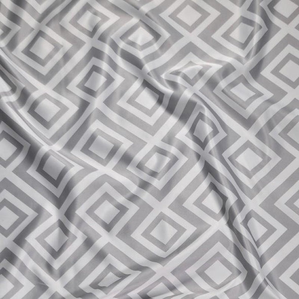 Paragon Print (Lamour) Wholesale Fabric in Silver