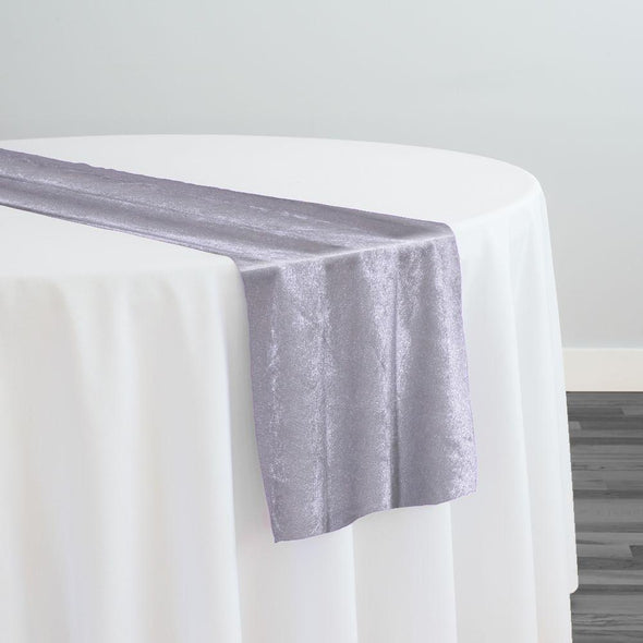 Lush Velvet Table Runner in Silver