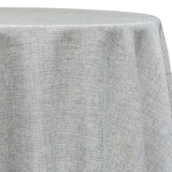 Imitation Burlap (100% Polyester) Table Linen in Silver