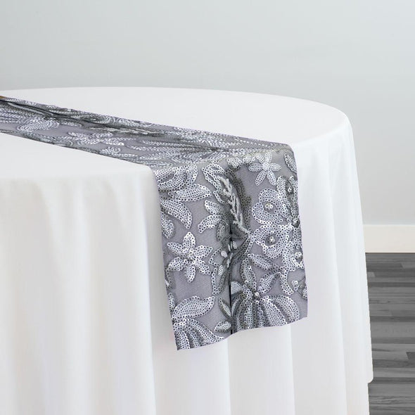 Starlight Sequins Table Runner in Silver