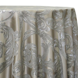 Florence Jacquard Table Linen in Silver