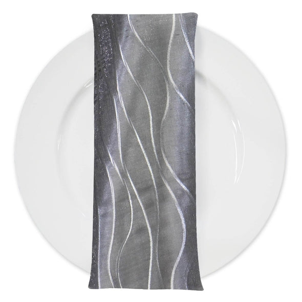 Karawave Jacquard Table Napkin in Silver