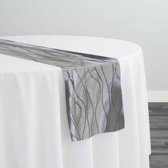Karawave Jacquard (Reversible) Table Runner in Silver