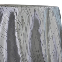 Karawave Jacquard (Reversible) Table Linen in Silver