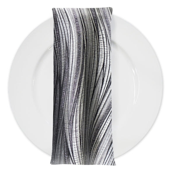 Allure Jacquard Table Napkin in Silver