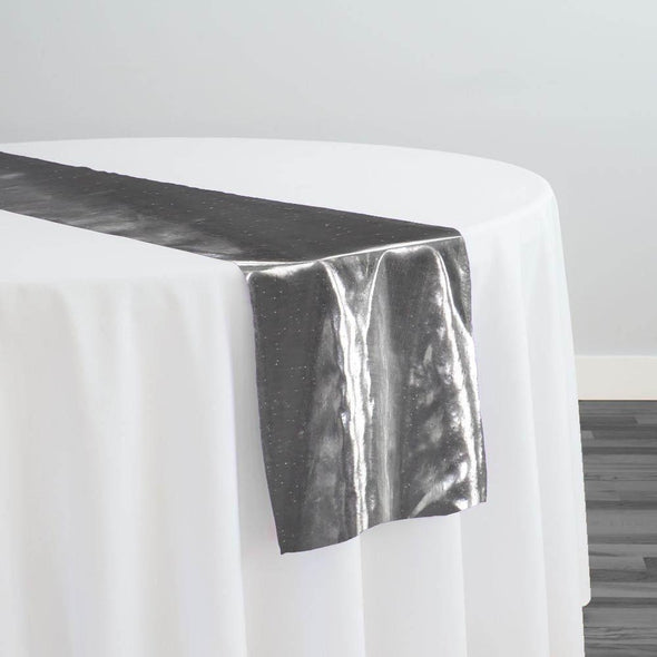 Tissue Lame Table Runner in Silver