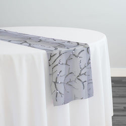 Brooks Sequins Table Runner in Silver and White