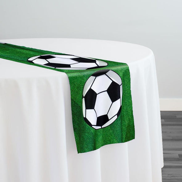 Sports (Poly Print) Table Runner in Soccer