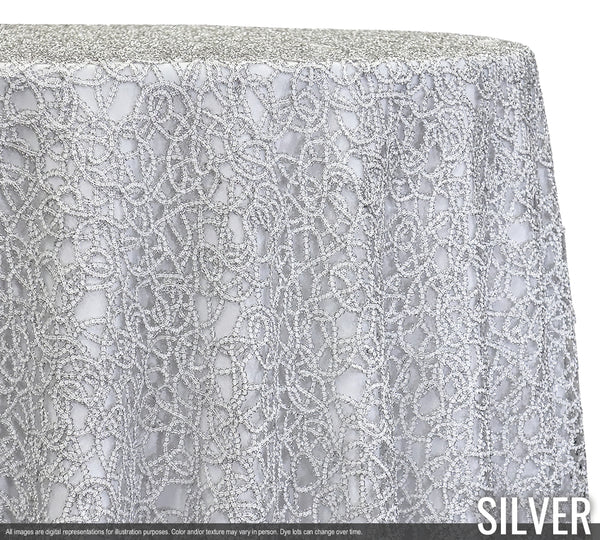 Swirl Chain Lace Tablecloth Samples Urquid Linen