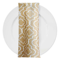 Gatsby Print (Lamour) Table Napkin in Taupe