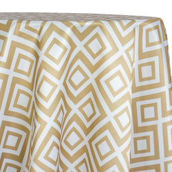 Paragon Print (Lamour) Table Linen in Taupe
