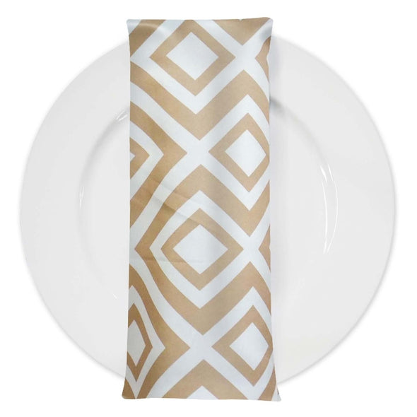 Paragon Print Lamour Table Napkin in Taupe