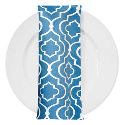 Gatsby Print (Lamour) Table Napkin in Teal