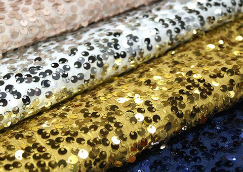 Taffeta Sequins - Fabric By The Yard