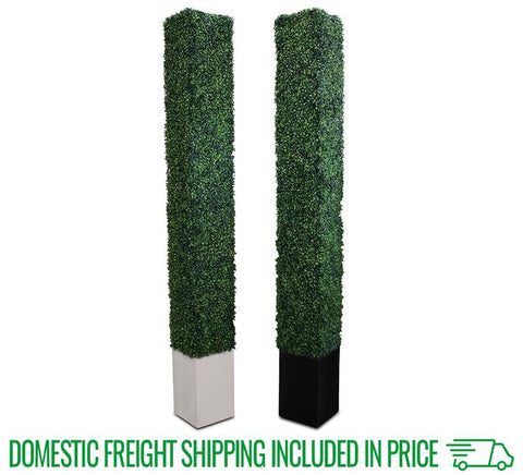 "8'x12"" Boxwood Decorative Hedge (4 Pack)"