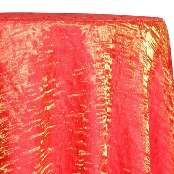 Crush Shimmer (Galaxy) Table Linen in Tangerine