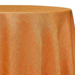 Imitation Burlap (100% Polyester) Table Linen in Tangerine