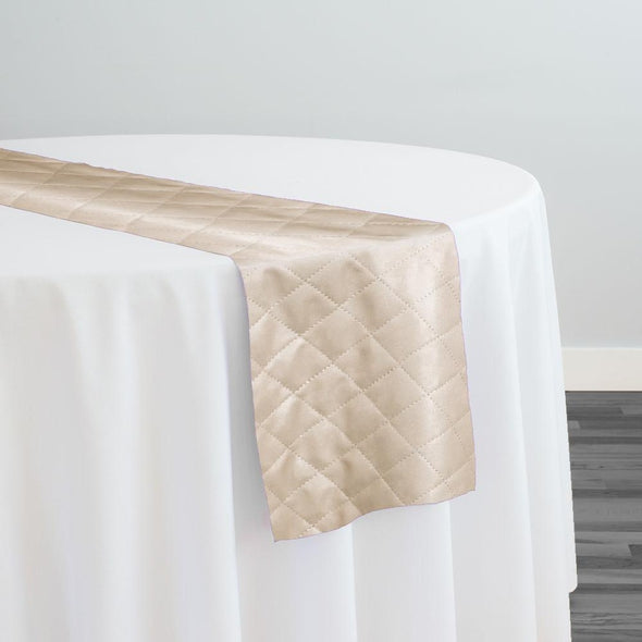 Murano Quilt Table Runner in Taupe