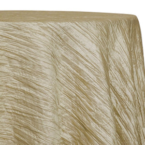 Accordion Taffeta Table Linen in Taupe  36