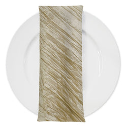 Accordion Taffeta Table Napkin in Taupe 36