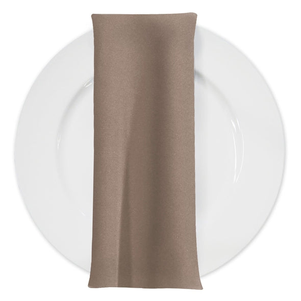 Premium Polyester (Poplin) Table Napkin in Taupe 1188